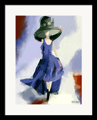 Abstract Fashion Drawing Framed Prints