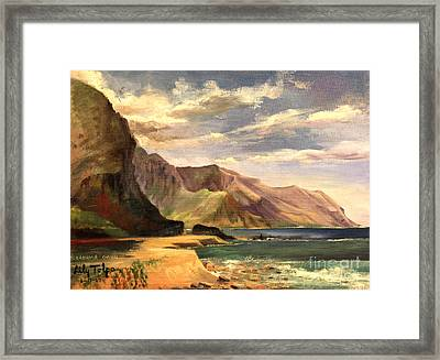 Yokahama Bay Oahu Hawaii - 1960's Framed Print