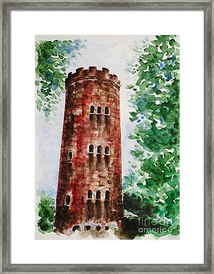 Yokahu Tower  Framed Print by Zaira Dzhaubaeva