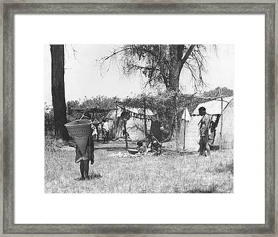 Yokut Indian Homes Framed Print