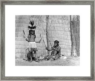 Yokut Medicine Man Framed Print by Underwood Archives Onia