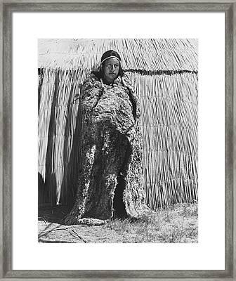 Yokut Rabbit Blanket Framed Print by Underwood Archives Onia