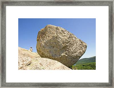 Yone Person Looks At The View Framed Print