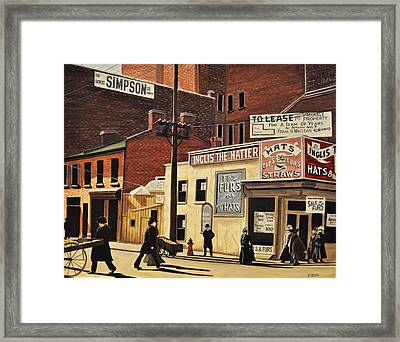 Framed Print featuring the painting Yonge And Richmond Streets 1899 by Kenneth M  Kirsch