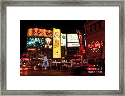 Yonge-dundas Square At Night Framed Print