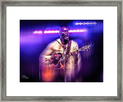 Framed Print featuring the photograph Yonkers Riverfest - Jermaine Paul  by Glenn Feron
