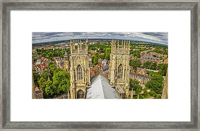 York From York Minster Tower Framed Print