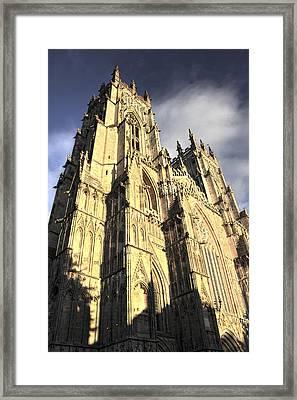Framed Print featuring the photograph York Minster  by Stewart Scott