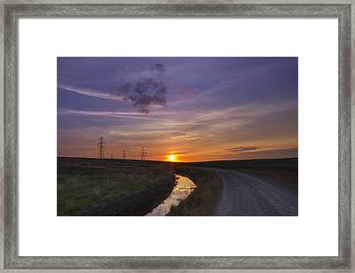 Yorkshire Sunset  Framed Print by Chris Smith