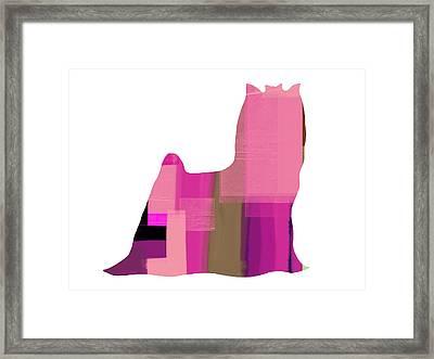 Yorkshire Terrier Framed Print by Naxart Studio