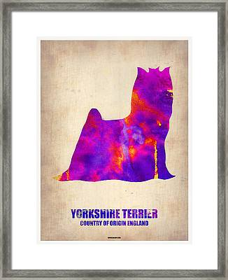 Yorkshire Terrier Poster Framed Print by Naxart Studio