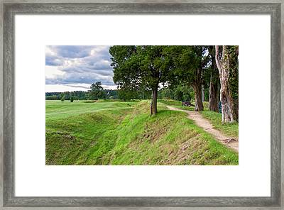 Yorktown Battlefield Earthworks Framed Print by John M Bailey
