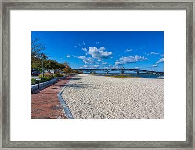 Yorktown River Walk Framed Print by John M Bailey