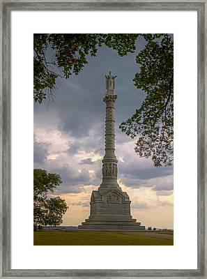 Yorktown Victory Monument Framed Print by Jerry Gammon