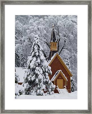 Yosemite Chapel Framed Print by Bill Gallagher