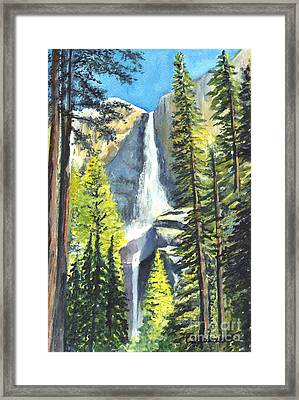 Yosemite Falls California Framed Print by Carol Wisniewski