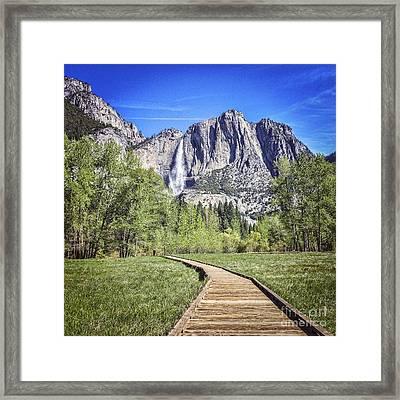 Yosemite Falls Framed Print by Colin and Linda McKie