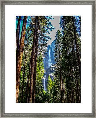 Framed Print featuring the photograph Yosemite Falls by Dany Lison