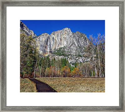 Yosemite Falls From Cook's Meadow Framed Print by Scott McGuire