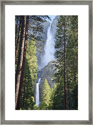 Yosemite Falls In Morning Splendor Framed Print by Bruce Gourley