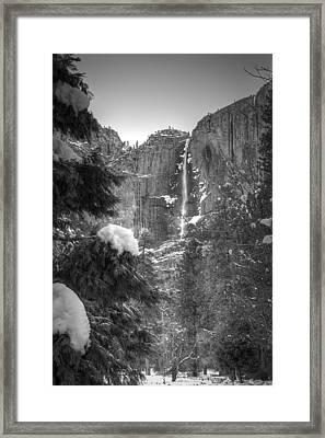 Yosemite Falls In Winter Framed Print