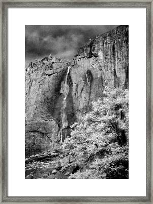 Framed Print featuring the photograph Yosemite Falls by Mark Greenberg