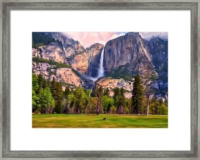 Yosemite Falls Framed Print