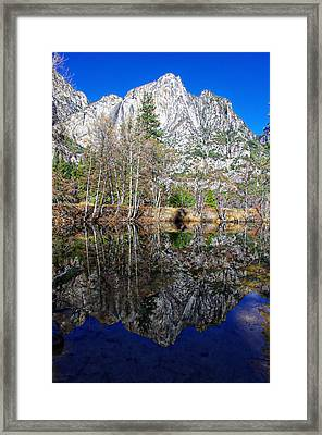 Yosemite Falls Winter Reflection Framed Print by Scott McGuire