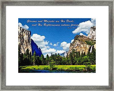 Yosemite Gods Country Framed Print