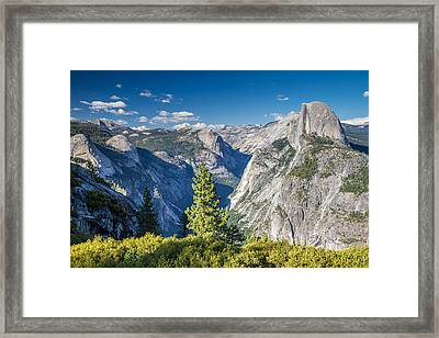 Yosemite Half Dome From Glacier Point Framed Print by Pierre Leclerc Photography