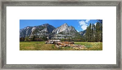 Yosemite Meadow Panorama Framed Print by Jane Rix