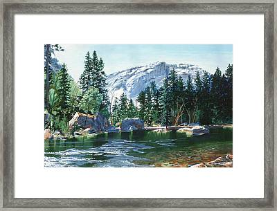 Yosemite Mirror Lake Framed Print