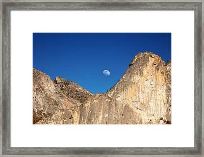Yosemite Moonrise Framed Print by Jane Rix
