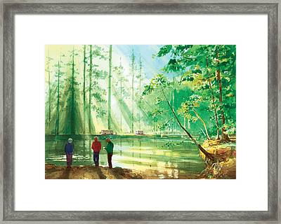 Yosemite Morning Framed Print by Ray Cole