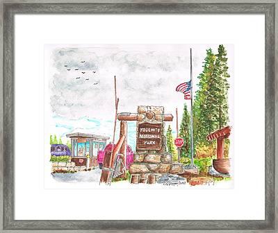 Yosemite National Park Ca-tioga Pass Entrance Framed Print by Carlos G Groppa
