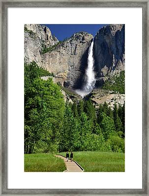Yosemite National Park, Ca, Young Girls Framed Print by Mark Williford