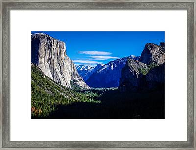 Yosemite National Park Tunnel View Framed Print by Scott McGuire