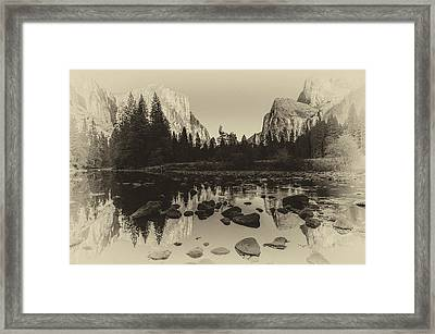 Yosemite National Park Valley View Antique Print   Framed Print by Scott McGuire