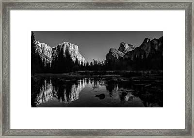 Yosemite National Park Valley View Winterscape Framed Print by Scott McGuire