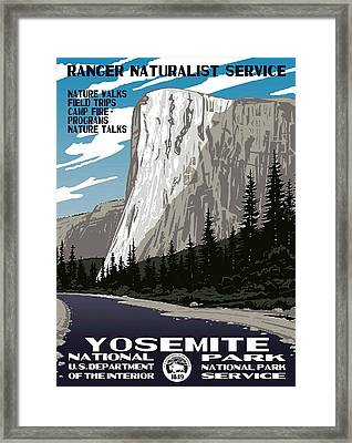 Yosemite National Park Vintage Poster 2 Framed Print