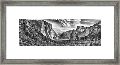 Yosemite Panoramic Framed Print by Chuck Kuhn