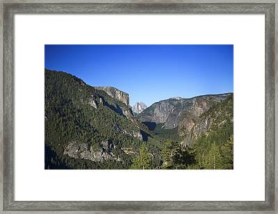 Yosemite Scenic Framed Print by Charmian Vistaunet