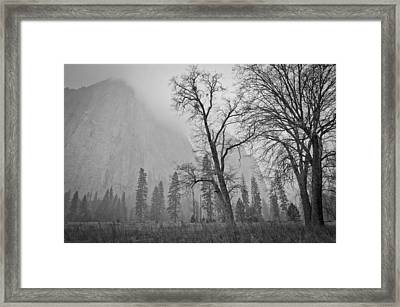 Framed Print featuring the photograph Yosemite Storm by Priya Ghose