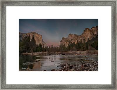 Yosemite Sunset Framed Print
