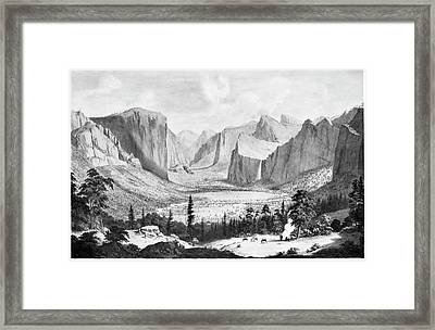 Yosemite Valley, 1855 Framed Print