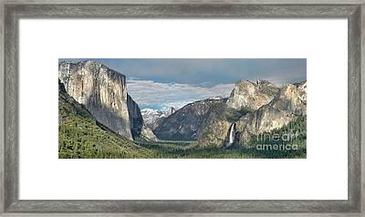 Yosemite Valley Afternoon Framed Print by Sandra Bronstein