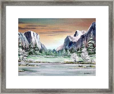 Yosemite Valley Artist Point Framed Print
