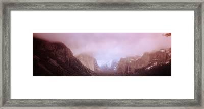 Yosemite Valley Ca Usa Framed Print