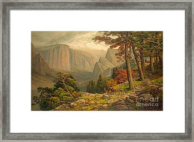 Yosemite Valley California 1887 Framed Print by Padre Art
