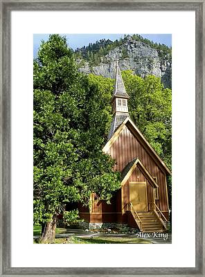 Yosemite Valley Chapel Framed Print by Alex King